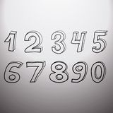Set of artistic numbers Stock Photography