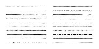 Set of artistic pen brushes. Hand drawn grunge strokes. Vector illustration.  Stock Image
