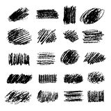 Set of artistic pencil brushes. Hand drawn grunge strokes. Vector illustration.  Stock Photo