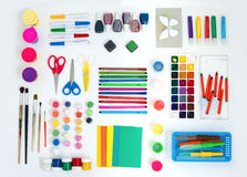 Set of artistic tools Royalty Free Stock Image