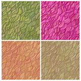Set of artistic vector seamless patterns Stock Photography