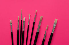 Set of artists paint brushes Stock Image