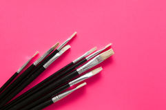 Set of artists paint brushes Stock Photography
