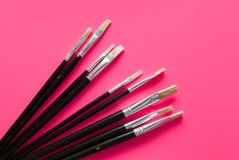 Set of artists paint brushes Royalty Free Stock Photos