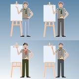 Set artyści royalty ilustracja