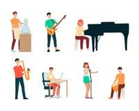 Set artyści, ludzie kreatywnie zawody i hobby, ilustracji