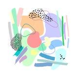 Set artystyczne kolorowe cech ogólnych karty Poślubiać, rocznica, urodziny, wakacje, przyjęcie Projekt dla plakata, karta, zapros royalty ilustracja