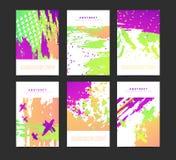 Set artystyczne kreatywnie niezwykłe karty Ręki Rysować tekstury Inkasowy alegat dla poślubiać, urodziny, przyjęcie Projekt dla royalty ilustracja