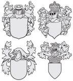 Set arystokratyczni emblematy No8 Zdjęcia Royalty Free