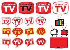 Set of as seen on TV Royalty Free Stock Photo