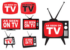 Set of as seen on TV Stock Image