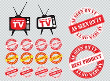 Set of as seen on TV icon Royalty Free Stock Images