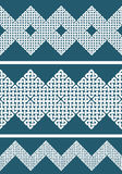 A set of 3 Asian or Celtic style knot seamless border or pattern. Royalty Free Stock Images
