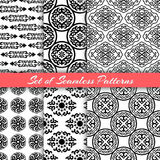 Set Of Asian Patterns On White Royalty Free Stock Photography