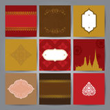 Set of Asian traditional art Design Vector. Set of Asian traditional art Design Vector for cover design, book cover, poster, invitation card or advertising Vector Illustration