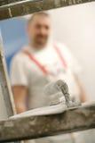 Set asortowani tynk kielni narzędzia i szpachelka Obraz Royalty Free