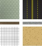 Set of asphalt road textures Royalty Free Stock Photography