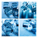 Set of assorted backgrounds with ice cube Royalty Free Stock Photo