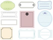 Set of assorted labels on a white background. without sample text. Set of assorted labels in pastel colors on a white background, vector illustration. without Stock Photos