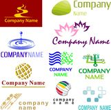 Set of assorted logo examples Royalty Free Stock Image