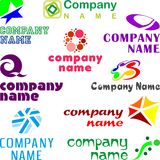 Set of assorted logo examples Royalty Free Stock Photography