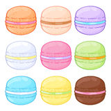 Set of assorted macarons. Royalty Free Stock Image