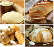 Set assortment of bread Royalty Free Stock Photography