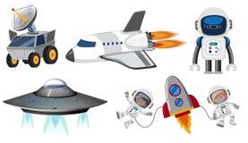 Set astronautyczny transport royalty ilustracja