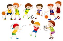 A set of athlete. Illustration stock illustration
