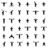 Set athlete silhouettes, vector illustration Stock Photography
