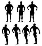 Set athletes bodybuilders Royalty Free Stock Photography