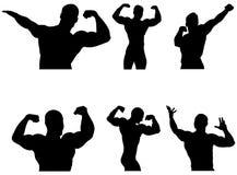 Set athletes bodybuilders Royalty Free Stock Image