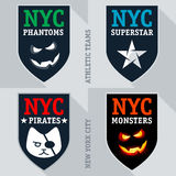 Set of athletic teams emblem and badge Stock Images