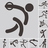 Set of athletics icons Royalty Free Stock Image
