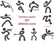 Set of athletics icons Stock Images