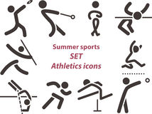 2562 - Set of athletics icons Royalty Free Stock Images