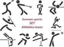 2562 - Set of athletics icons. Summer sports icons -  set of athletics icons Royalty Free Stock Images