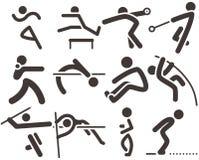 Set of athletics icons Royalty Free Stock Photography