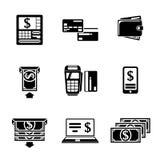 Set ATM monochromatyczne ikony z - ATM, karty Obraz Royalty Free