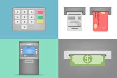 Set ATM operacje Zdjęcie Royalty Free