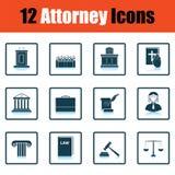 Set of attorney  icons Stock Photos