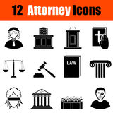 Set of attorney  icons Royalty Free Stock Images