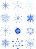 Set of attractive snowflakes Stock Photos