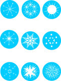 Set of attractive snowflakes Stock Images