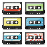 Set of audio cassettes Royalty Free Stock Images