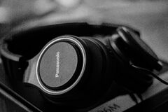 Set of audio headphones Royalty Free Stock Photos