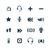 Set of audio icons Stock Images