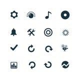Set of audio icons Royalty Free Stock Image