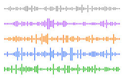 Set audio line. eps 10 vector illustration. Set audio line . The movie different sizes . eps 10 vector illustration Royalty Free Stock Image