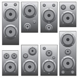Set of audio speakers. Stock Photo